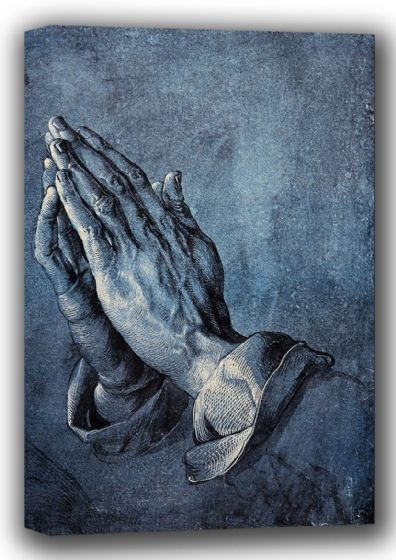Durer, Albrecht: Hands of an Apostle (Praying). Fine Art Canvas. Sizes: A4/A3/A2/A1 (001923)
